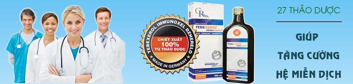 tebexerol immunoxel tăng cường hệ miễn dịch